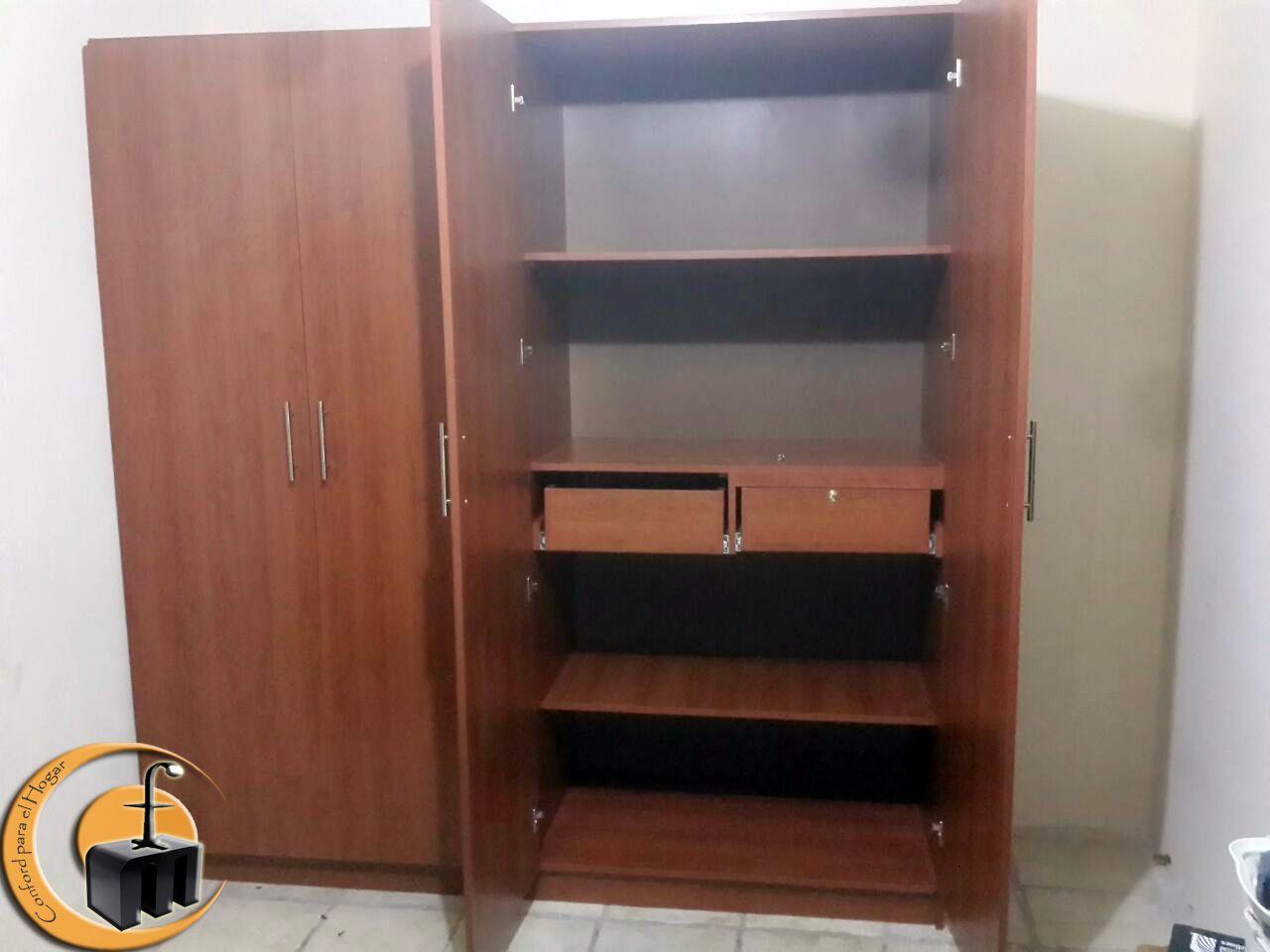 Closet melamina tono poro medida 2 mts de largo x 2 10 de altura y 60cm de fondo puertas de for Closet melamina