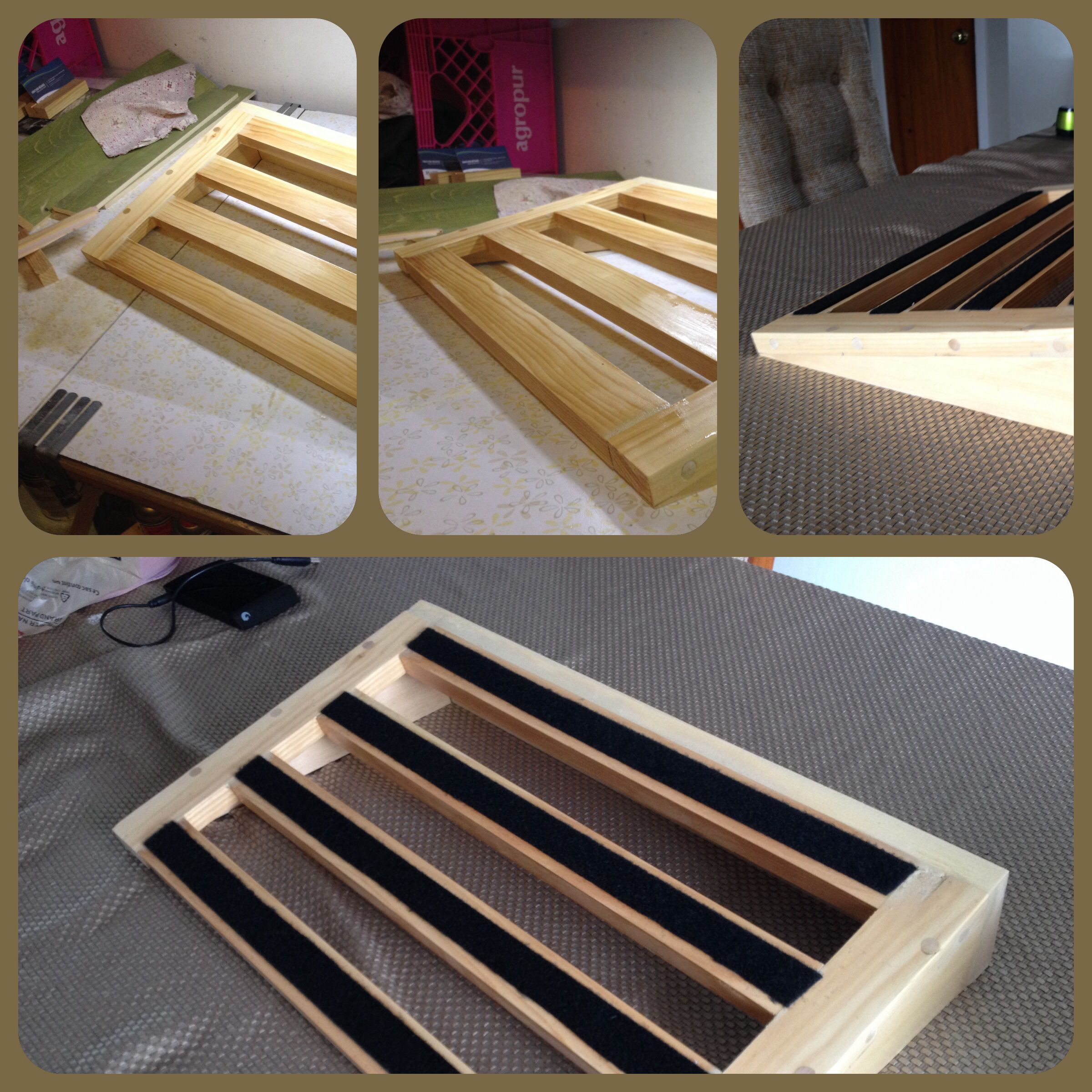 DIY pedalboard! Only Wood, but it´s not to heavy! #DIY # ...