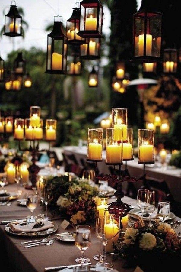 coole kerzendeko als gartenparty deko idee - Dekoration Fur Gartenparty Ideen
