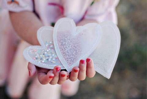 DIY confetti hearts