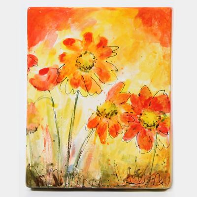 Canvas with Wild Flowers
