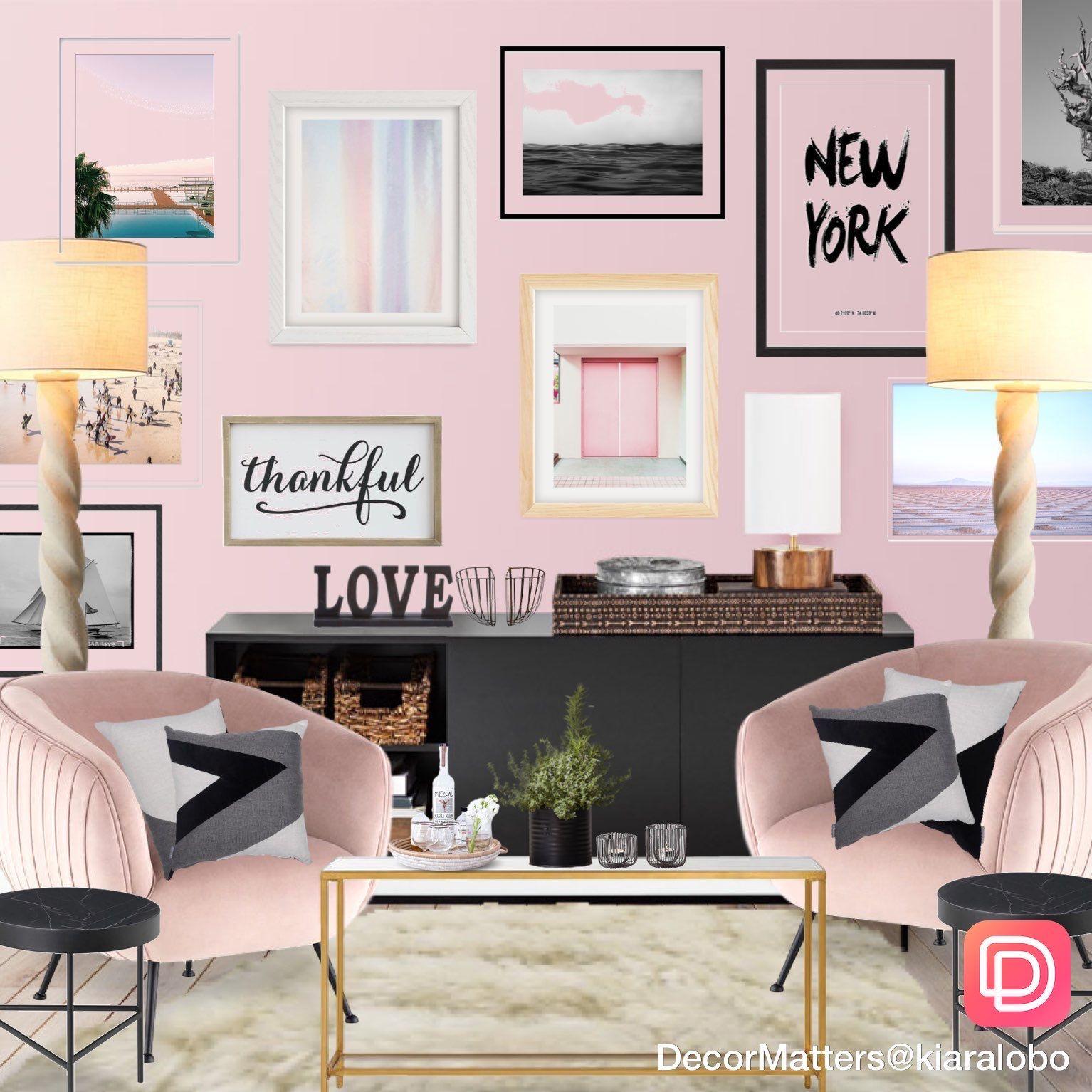Glam Pink Living Room In 2020 Glamorous Living Room House P