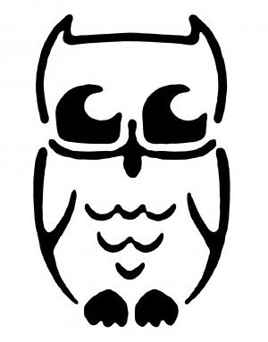 Owl pumpkin face free pumpkin carving template college for Simple owl pumpkin pattern