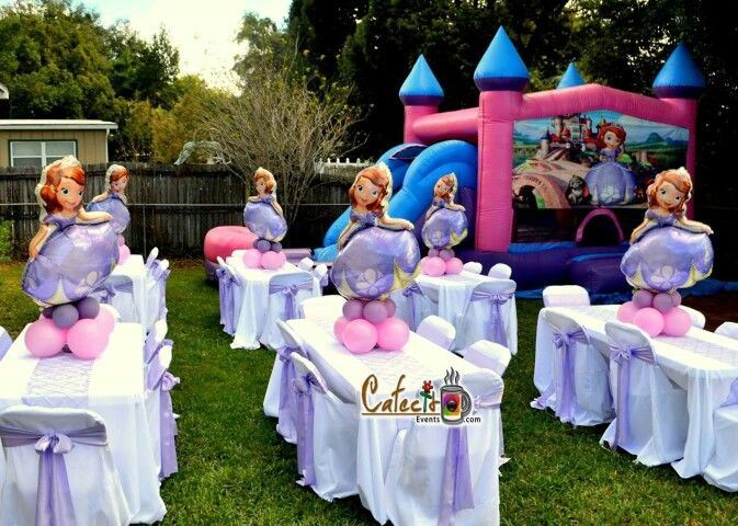 Sofia the first centerpieces sofia the first balloons for Diy decoracion cumpleanos