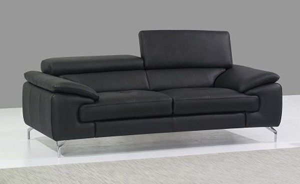 J M Furniture A973 Black Italian Leather Sofa 17906111 S With Images Italian Leather Sofa Sofa Leather Sofa