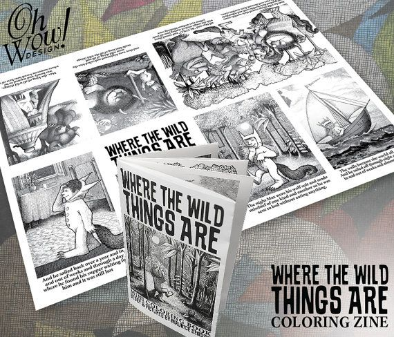 Where The Wild Things Themed Are Mini Book Zine By Ohwowdesign Wild Things Party Boys First Birthday Party Ideas Book Birthday Parties