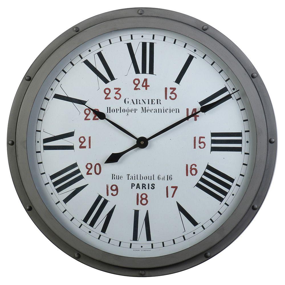 Garnier Clock Grey In 2019 Derby Clocks Wall