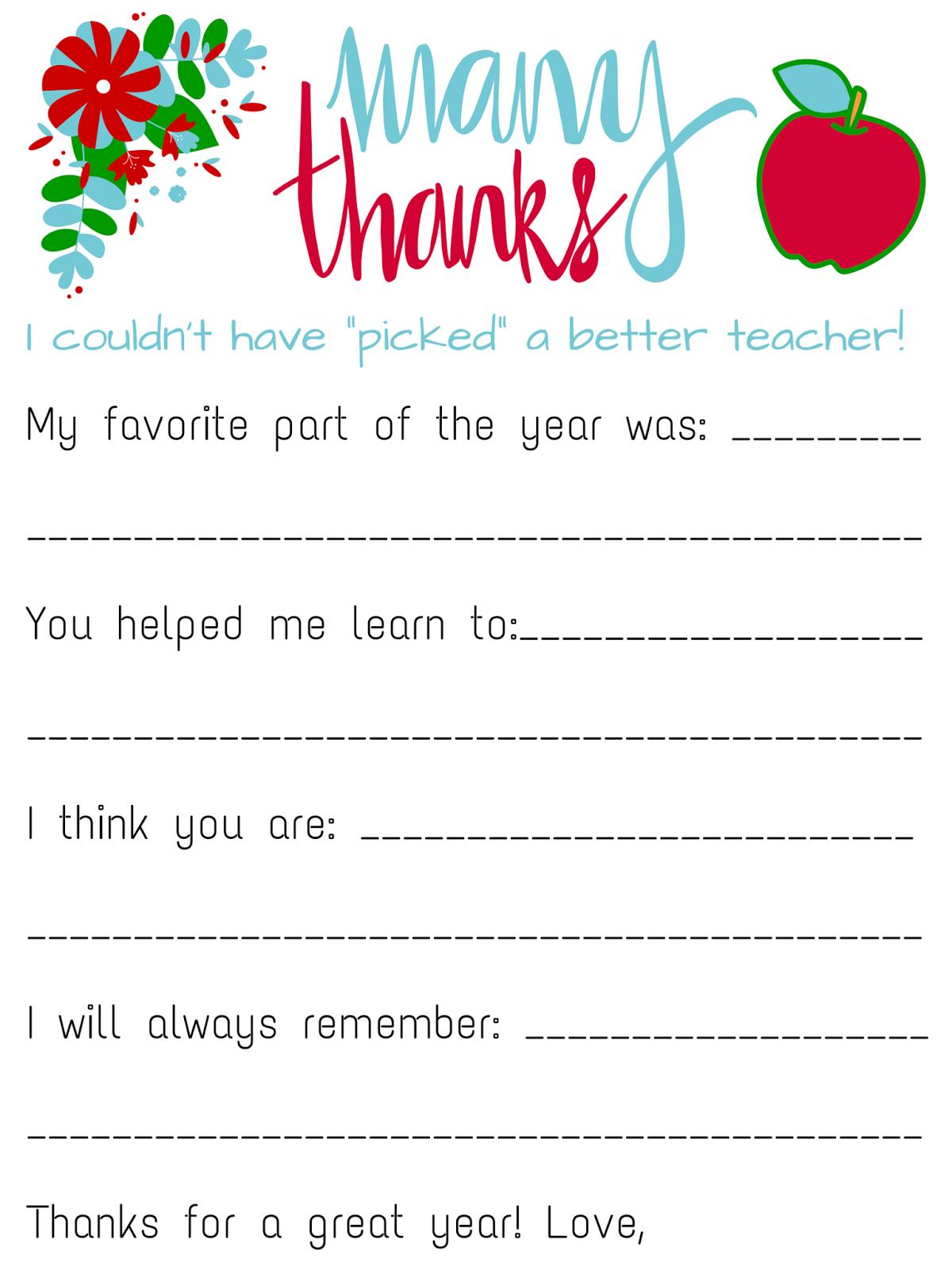 Savvy Spending: Free Teacher Appreciation Personalized ...
