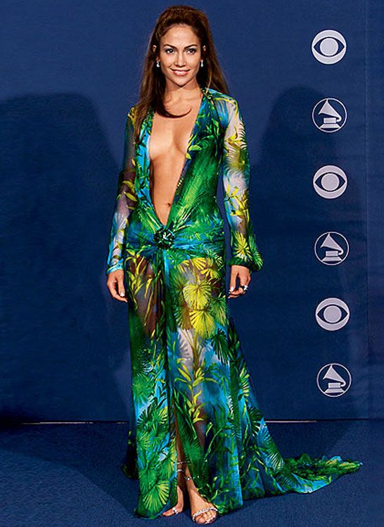 8. J.Lo's Versace Dress at the Grammys - 10 Incredible Iconic ...