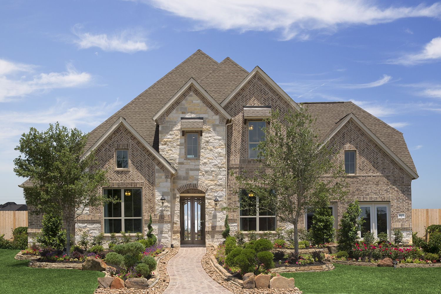 Brick And Stone Exterior Elevation Coventry Homes In Hidden Lakes League City Tx Design 7312 Coventry Homes Model Homes Stone Exterior Houses