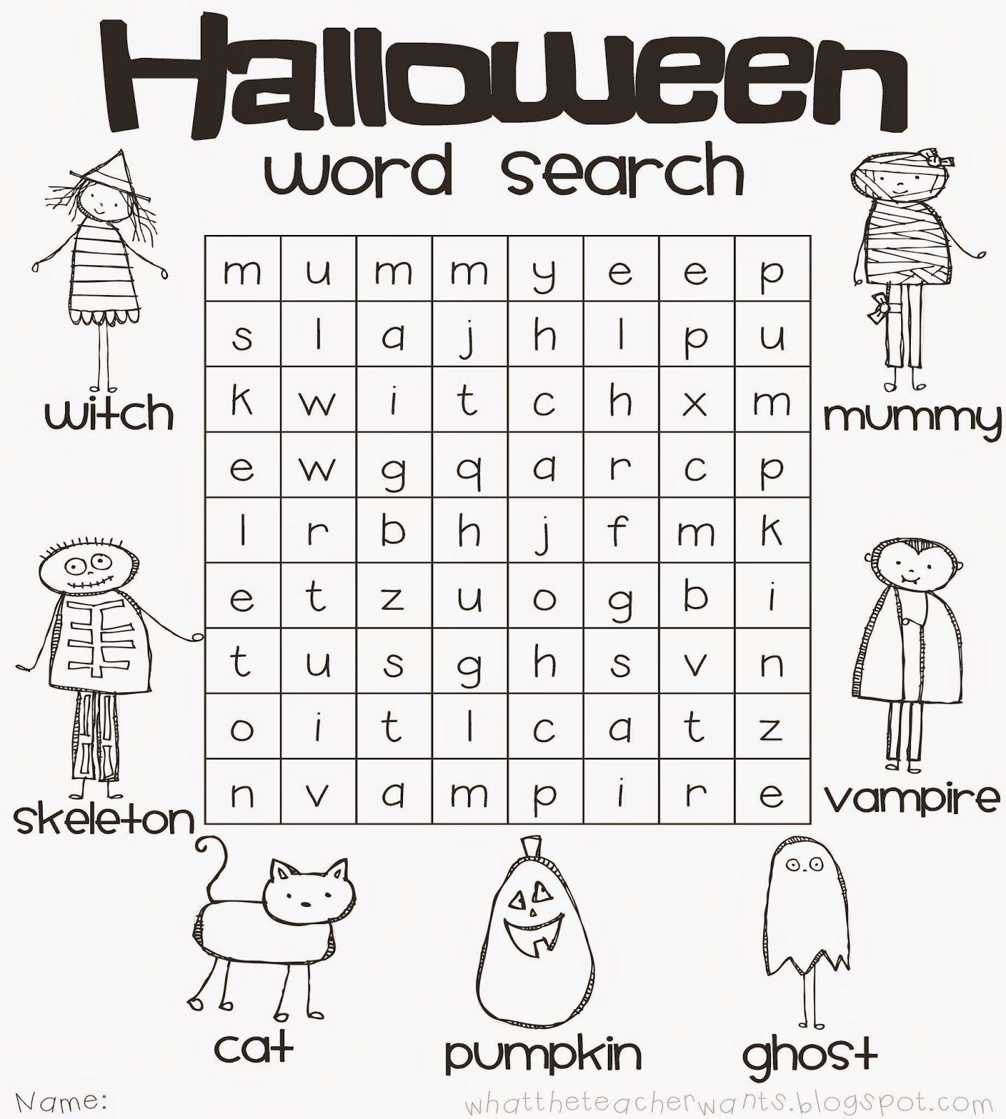 Blog Hoppin': Planning a Classroom Halloween Party. Halloween word ...