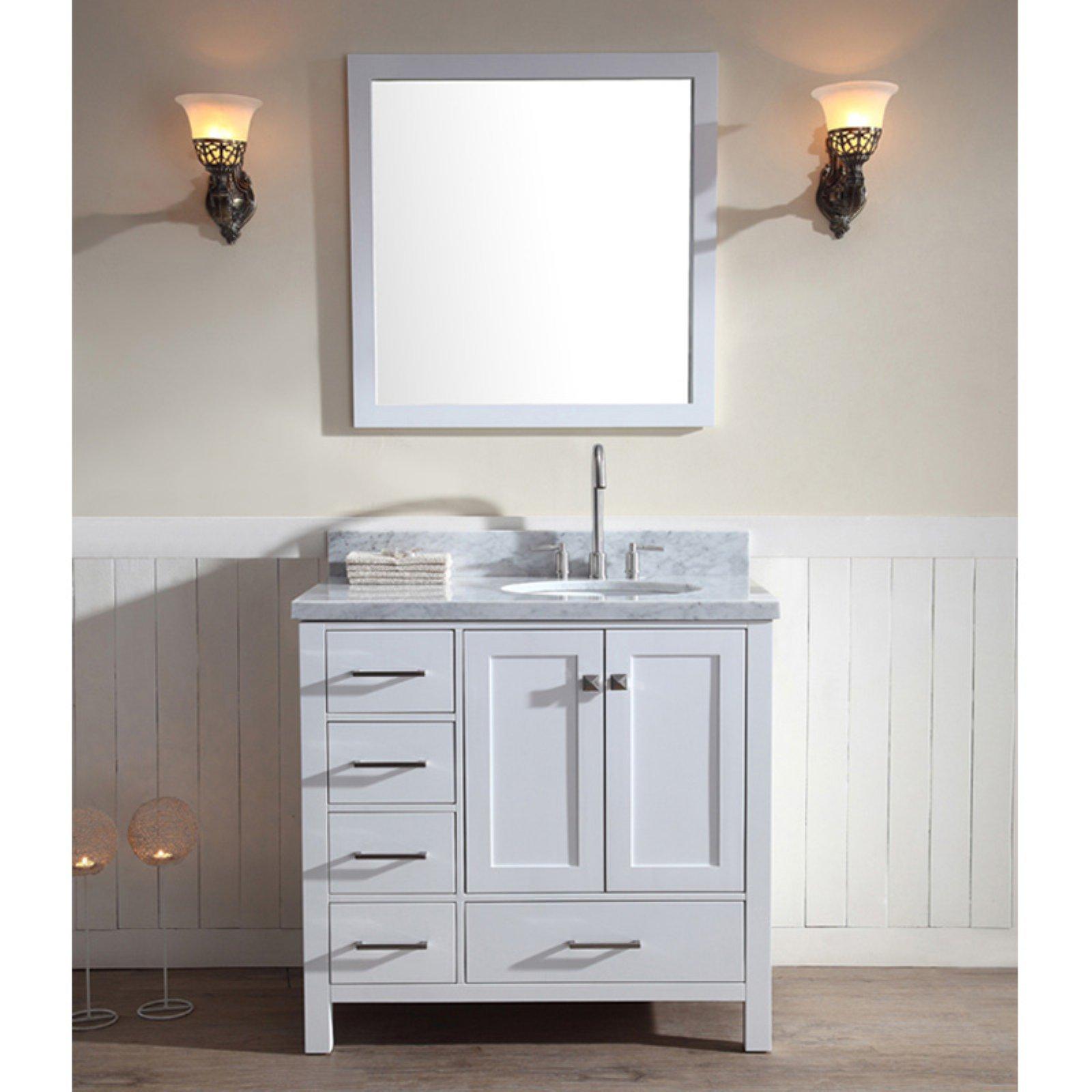 Ariel A037s R Cambridge 37 In Single Bathroom Vanity Set With