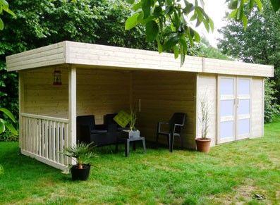 abri de jardin bois 28 mm avec un