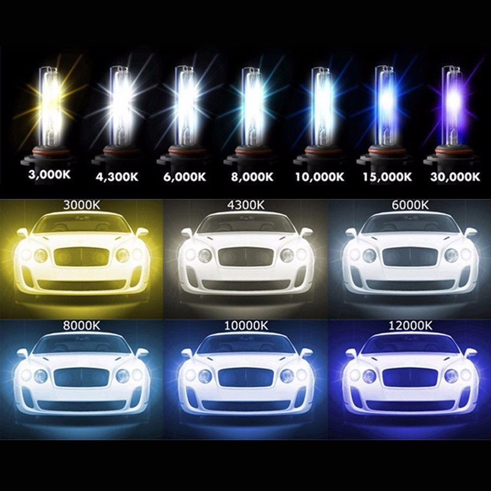 New Car Hid Xenon Bulb Headlight Lamp Replacement Car Styling Auto Motorcycle Light Source 3000k 4300k 5000k 6000k Motorcycle Lights Replacement Car Hid Xenon