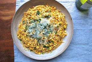 Dinner tonight linguine with red pesto and corn food52 red dinner tonight linguine with red pesto and corn food52 forumfinder Choice Image