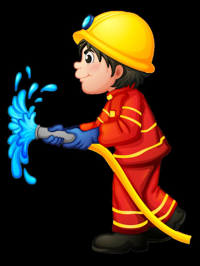 Картинка нарисованная пожарный