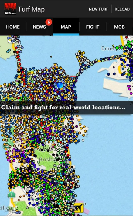 Turf Wars / GPS War (MeanFreePath, US 2009) GPS zone