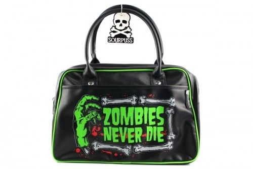 Zombies Never Die Bowler Purse