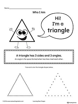 Learning Basic Geometric Shape Triangle Triangle Worksheet Triangles Activities Shapes Worksheets