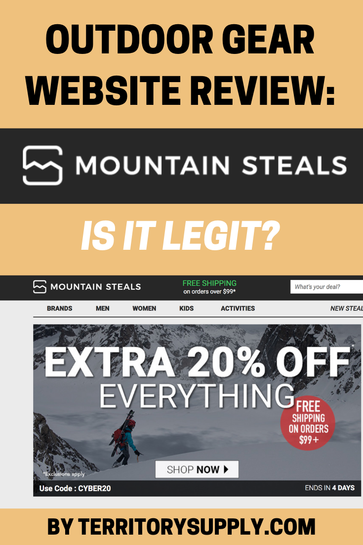eda3985d2c2 Does the outdoor retail site Mountain Steals seem to good to be true  We ve  got the 411 when you need to know if mountainsteals.com is legit.