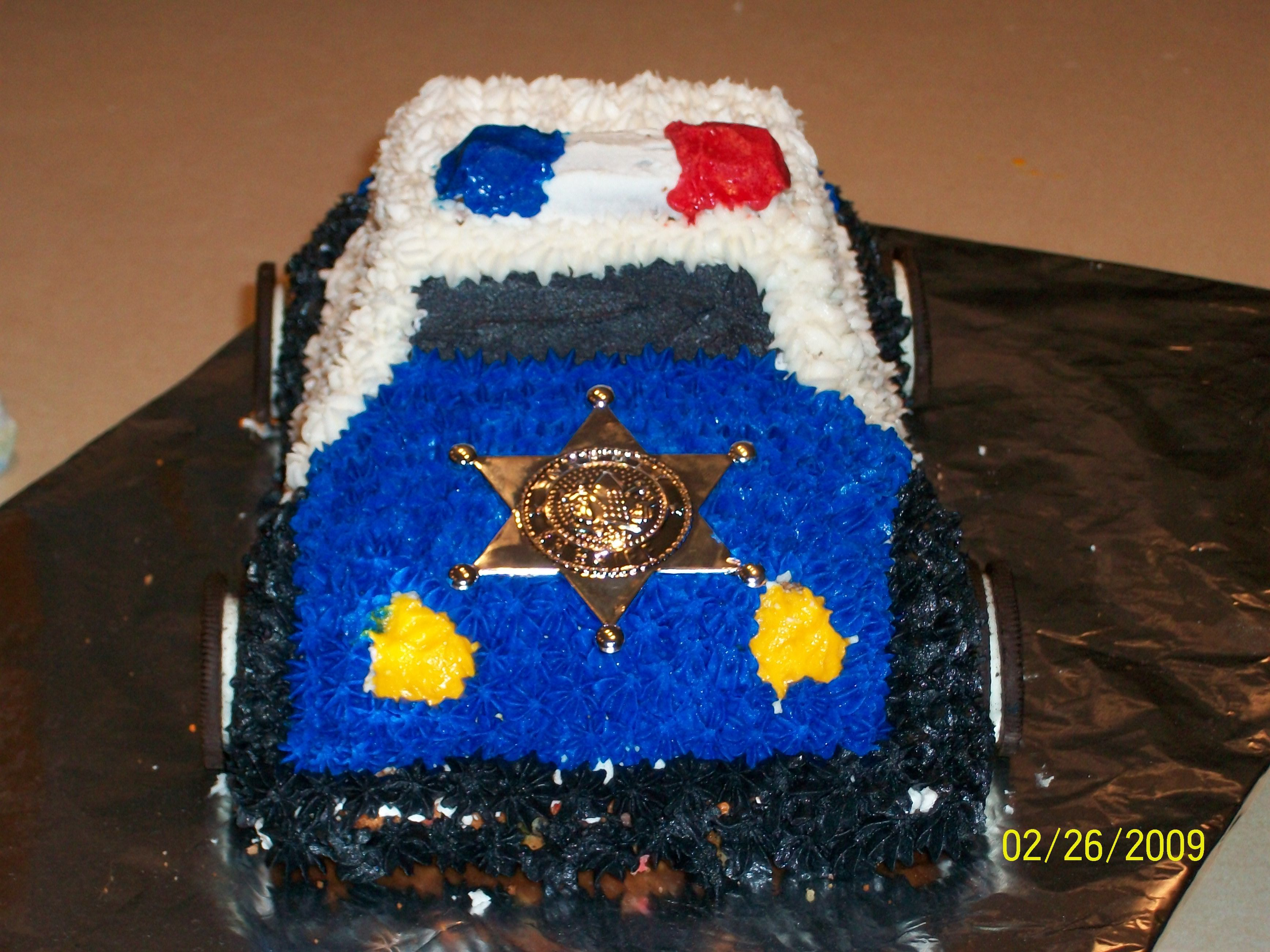 Police Car Cake Cakes Pinterest