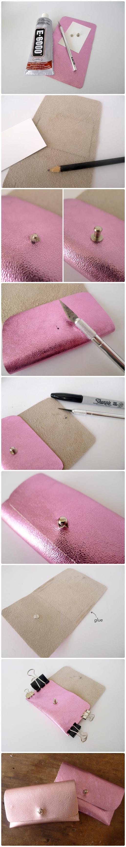 DIY NO-SEW BUSINESS CARD HOLDER | Leather DIYs | Pinterest ...