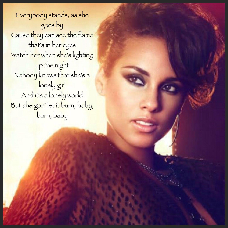 Alicia Keys Girl On Fire Lyrics  Great Song Lyrics, Fire -6059