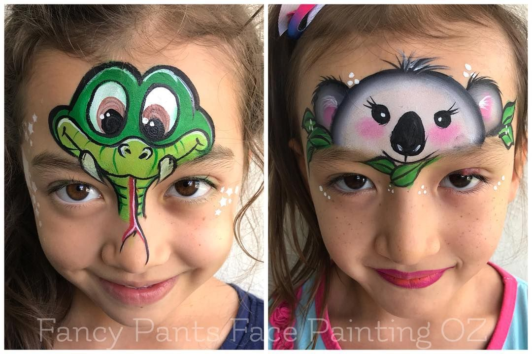 Snake Face Paint And Koala Face Paint Bemalte Gesichter