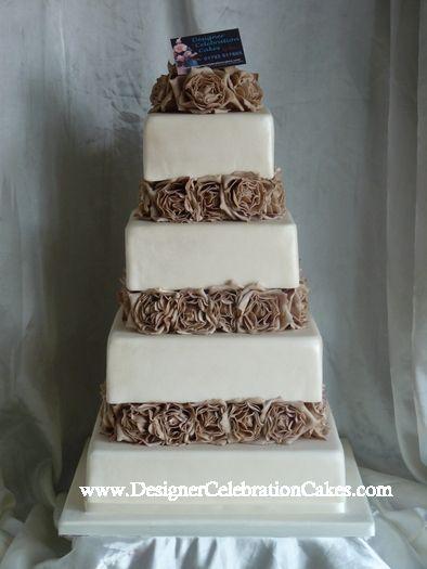 Chocolate And Cream Wedding Cakes Responses To Ivory Brown Cake