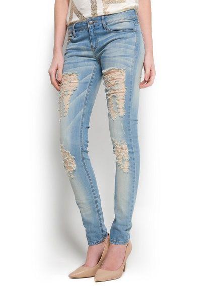 Jeans super slim rotos