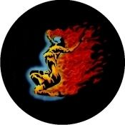 Flaming Lady Tire Cover