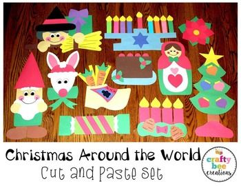 holidays around the world preschool around the world cut and paste set holidays 895