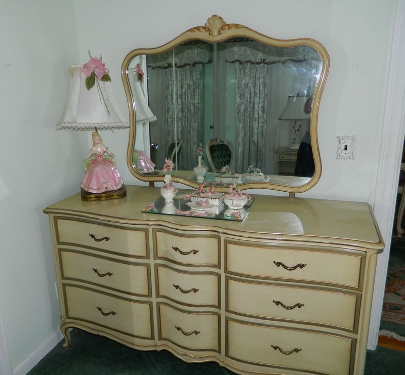 Drexel French Provincial Bedroom set including: Tall Chest ...