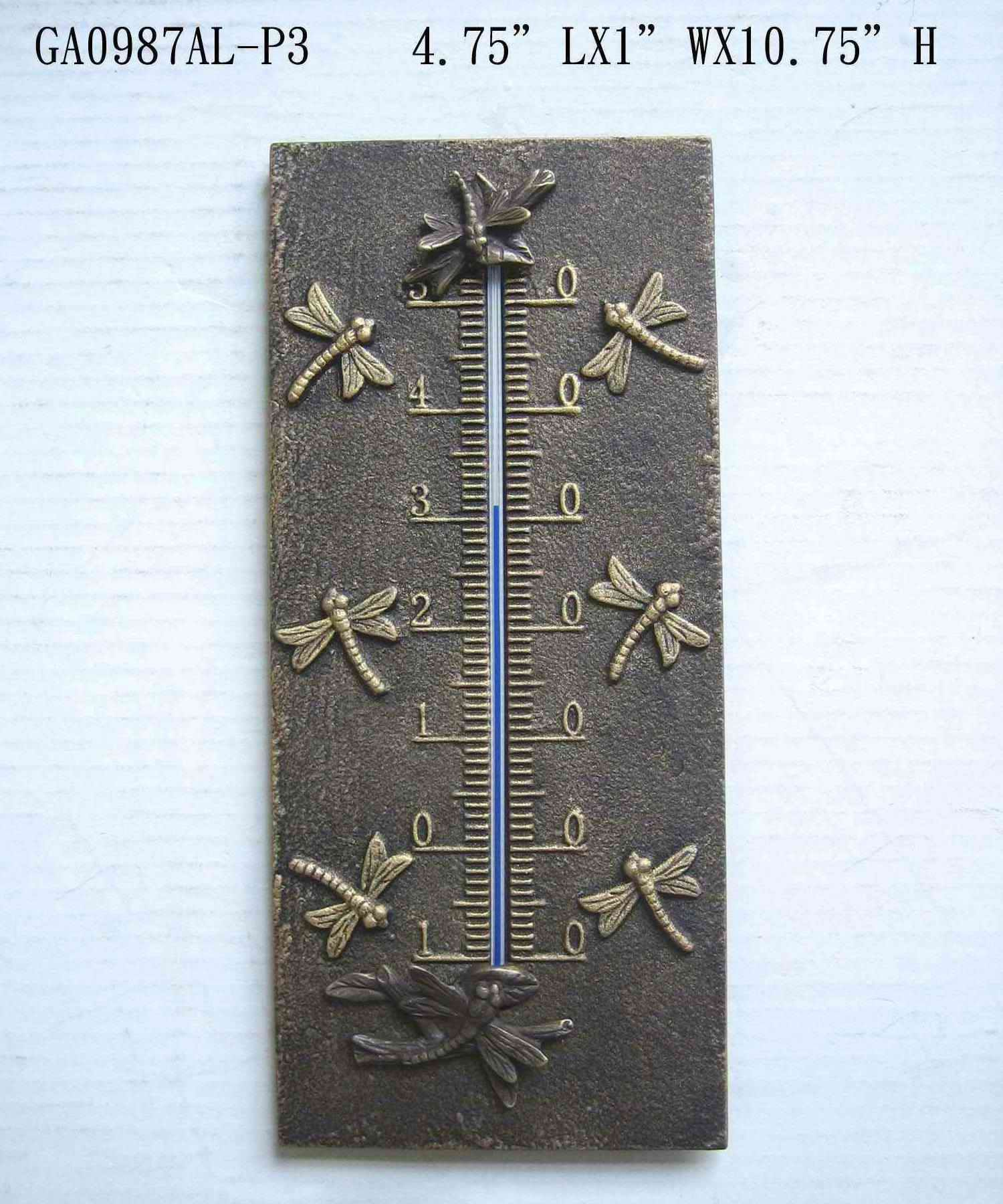 Dragonfly Thermometer Decor