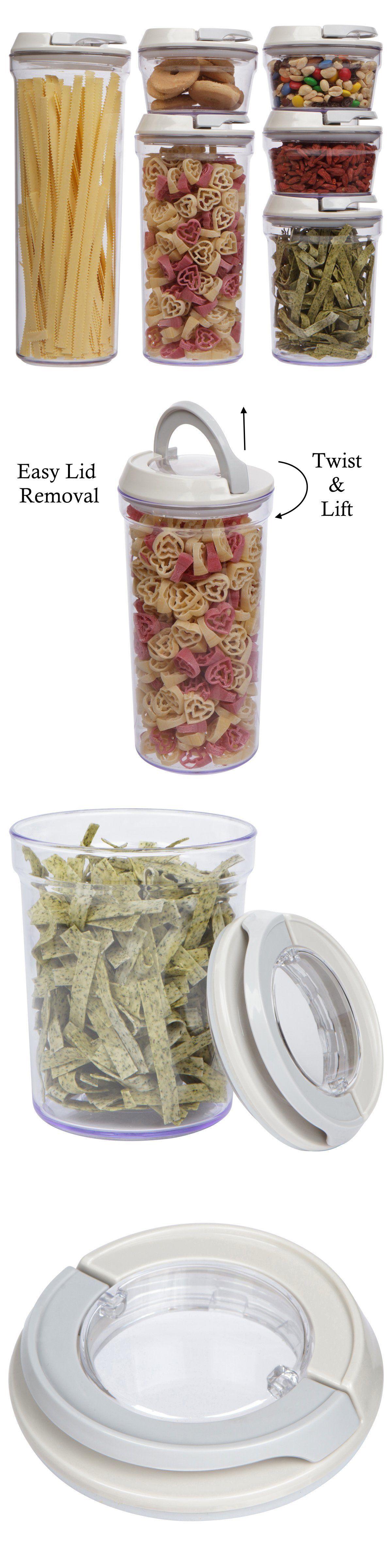 canisters and jars 20654 airtight clear acrylic canister set food canisters and jars 20654 airtight clear acrylic canister set food container 6 piece storage