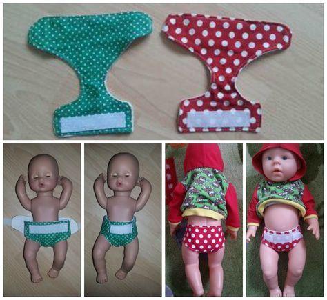 Windeln nähen | Sewy | Pinterest | Sewing, Doll clothes und Dolls