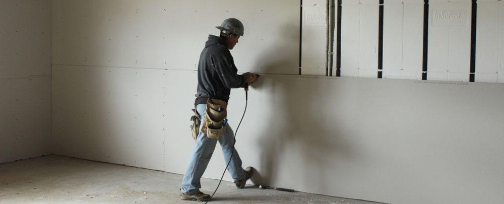 Insofast Installation Drywall And Alternative Finishes Drywall Installation Drywall Basement Foam Insulation