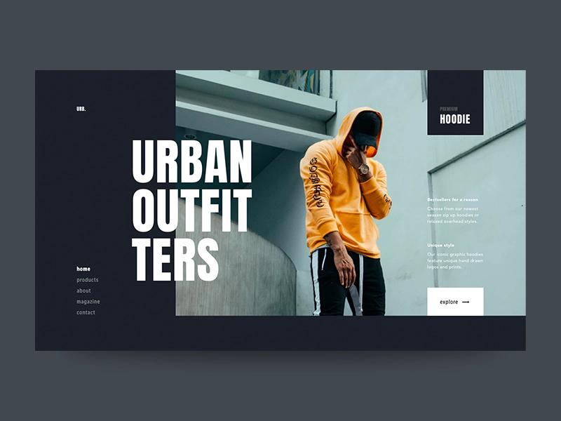 Recipe Layout Web Design Inspiration Urban Outfitters Design Web Design