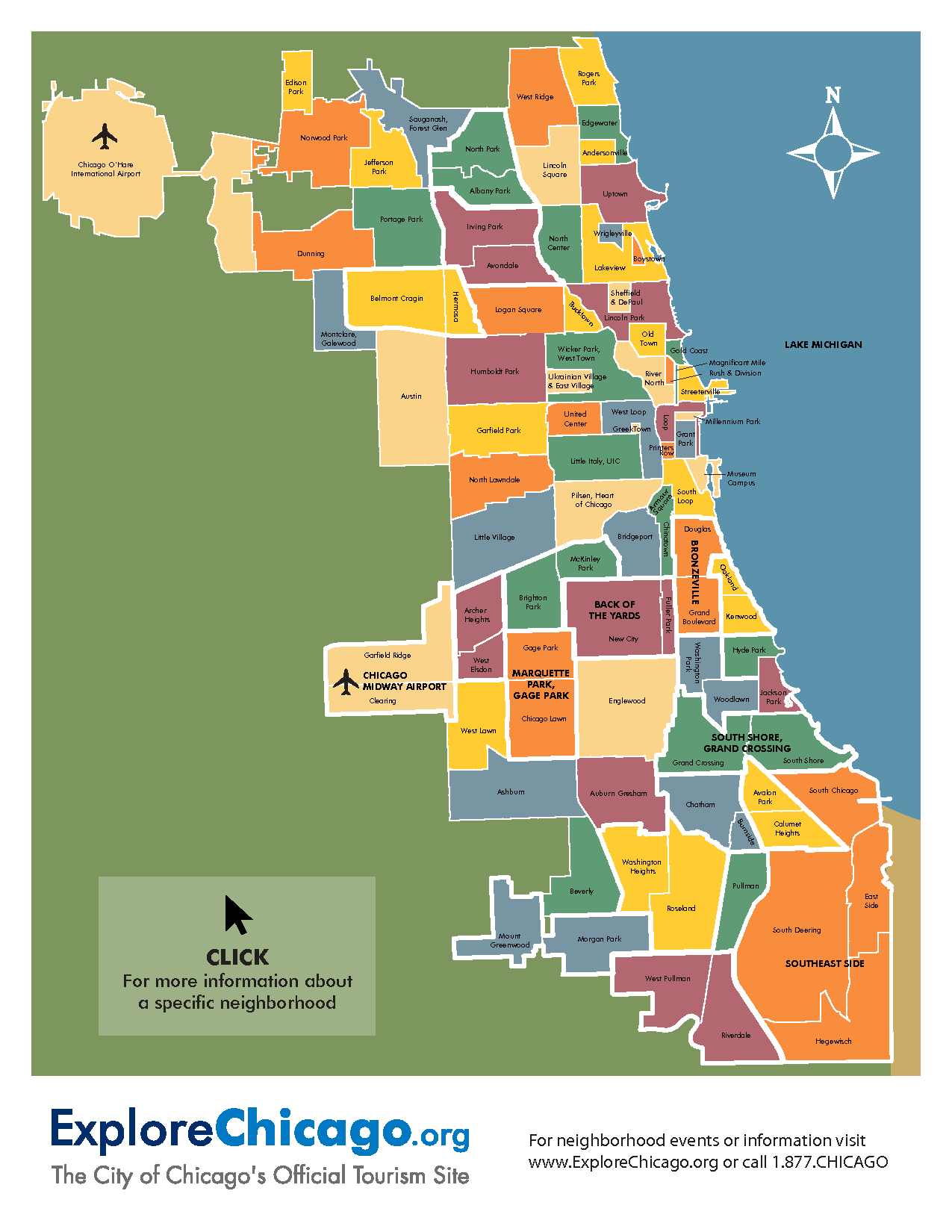 Pin by Fran Dertz on Chicago Chicago neighborhoods map