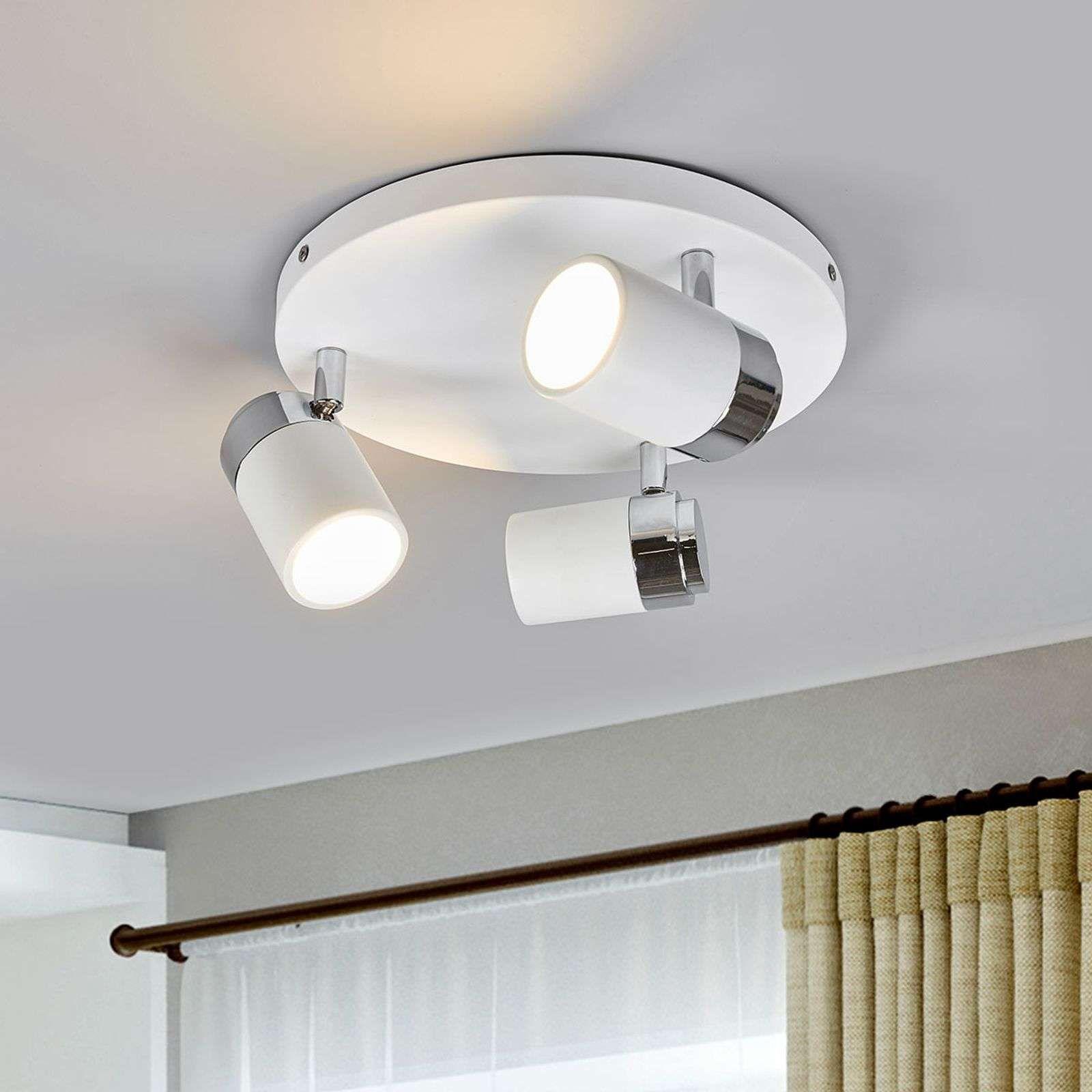 Kardo Badkamer Plafondlamp In Wit En Chroom Plafondlamp Badkamer Plafondlamp Badkamerlamp