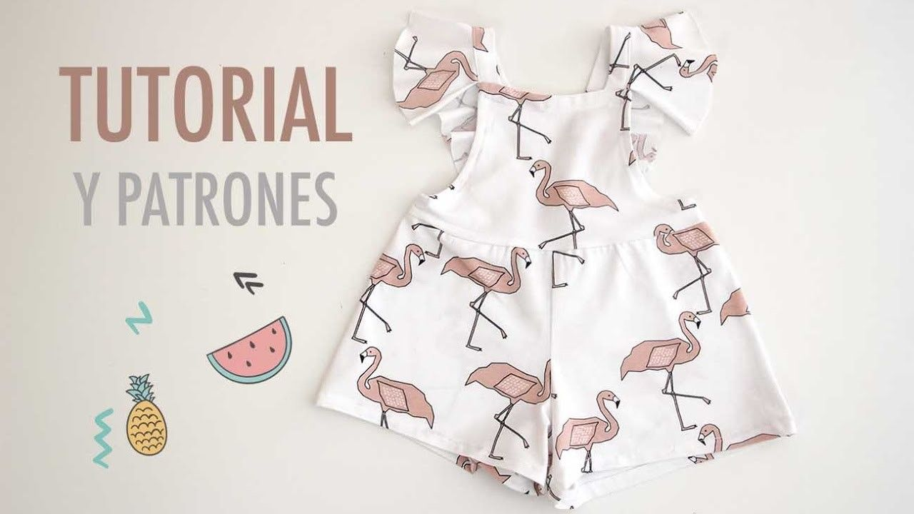 DIY Costura y patrones mono de flamencos (ropa para niños) | Bebe ...