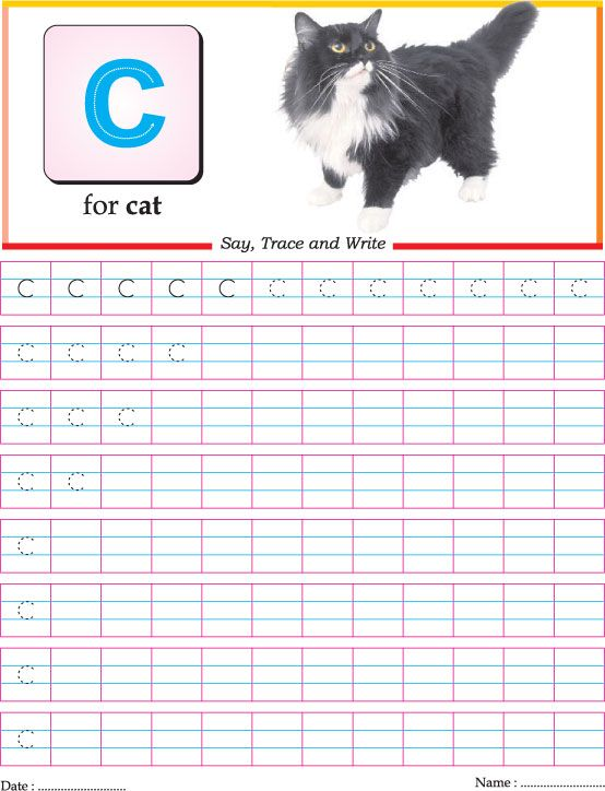 Small letter c practice worksheet
