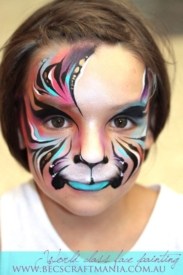 Pin By Lisy Lion On Face Painting Tiger Face Paints Girl Face Painting Animal Face Paintings