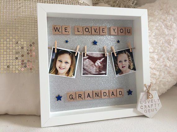 Grandad Frame Grandad Gifts Photo Peg Frame Washing Line Grandad Gift Grandparents Christmas Gifts Christmas Gifts For Grandads