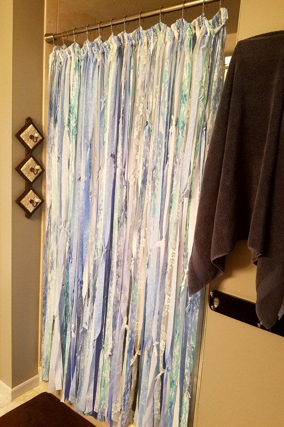 Boho Shower Curtains Fancy Blue Gypsy Teen Bathroom Kids Dorm Room Divider Ribbon
