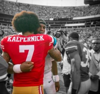 Colin Kaepernick And Cam Newton Hugging - The Picture They Didn't Want You To See