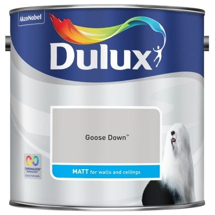 Dulux Matt Emulsion Goose Down 2 5L is part of Neutral Living Room Dulux - Dulux Matt Emulsion  a smooth and creamy emulsion paint for use on walls and ceilings  Goose Down  2 5L