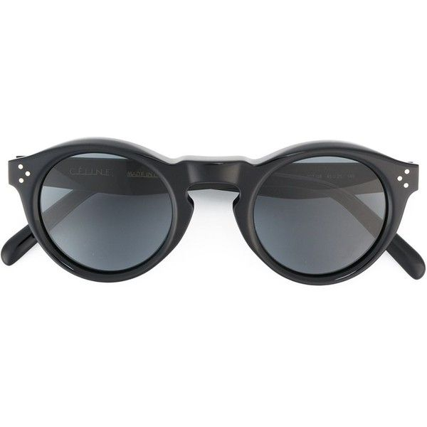 077a1410a5 Céline Bevel Round Sunglasses ( 288) ❤ liked on Polyvore featuring  accessories