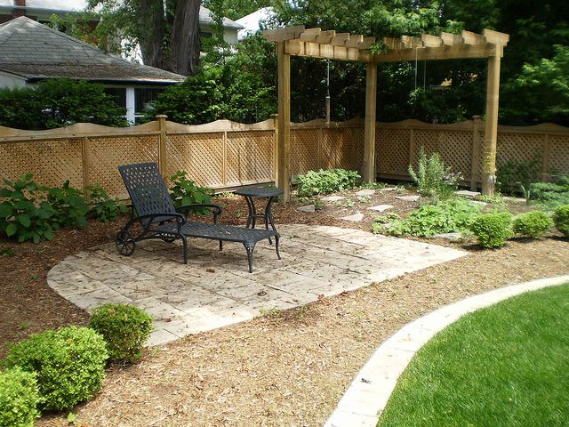 Backyard Landscape Design In Richmond Hill Large Backyard