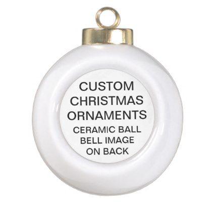 Bell Template For Christmas Decoration Custom Bell Ceramic Ball Christmas Tree Ornament
